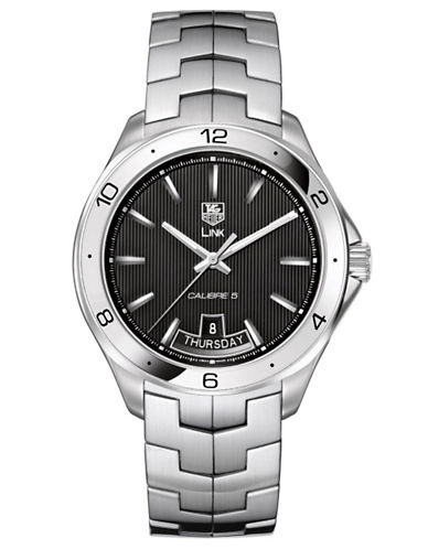 TAG HEUERMens Link Black Dial Day and Date Watch