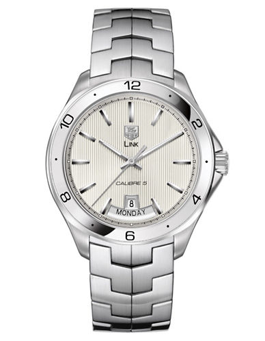 TAG HEUERMens Link Silver Dial Day and Date Watch