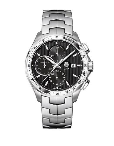 TAG HEUERMen's Link Black Dial Chronograph Watch
