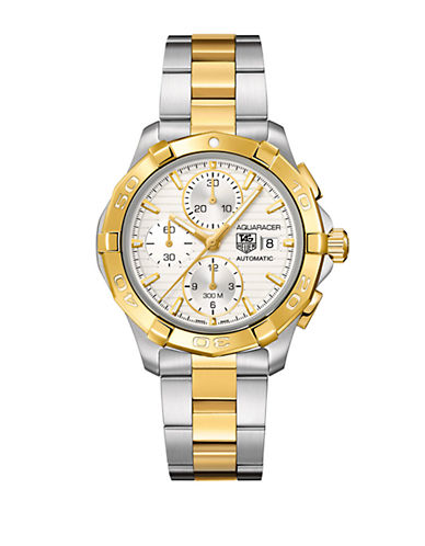 TAG HEUERMens Aquaracer Stainless Steel Two-Tone Chronograph Watch