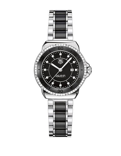 TAG HEUERLadies Formula 1 Small Dial Black Ceramic Diamond Watch