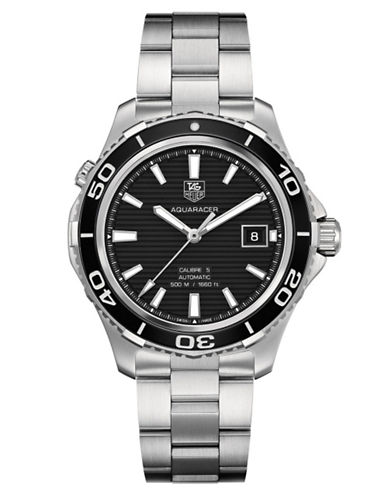 TAG HEUER Men's Aquaracer 500 Stainless Steel Black Dial Watch