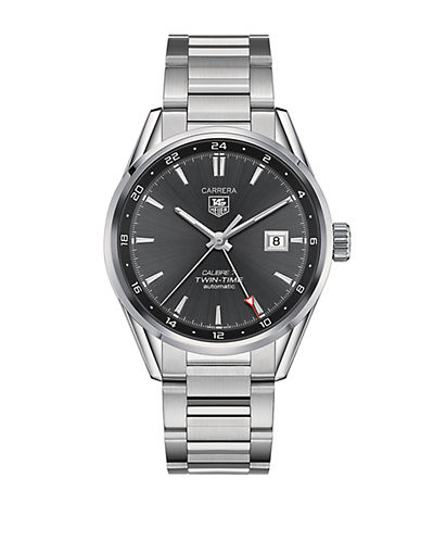 Carrera Twin-Time Stainless Steel Watch