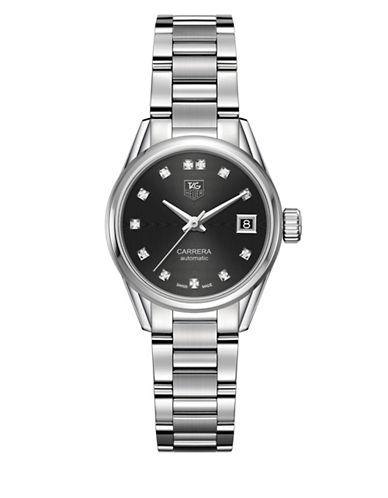 Carrera Diamonds and Steel Bracelet Watch, WAR2413BA0776