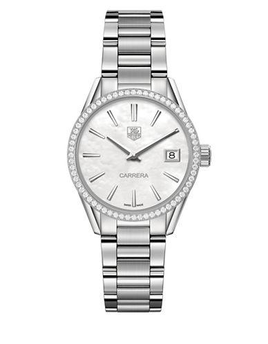 Carrera 0.621TCW Diamonds and Steel Bracelet Watch, WAR1315BA0778