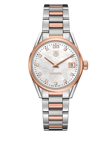 Carrera Diamonds, Steel and 18K Rose Gold Bracelet Watch