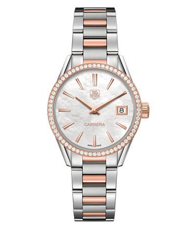 Carrera 0.621 Diamonds, Steel and 18K Rose Gold Bracelet Watch, WAR1353BD0779