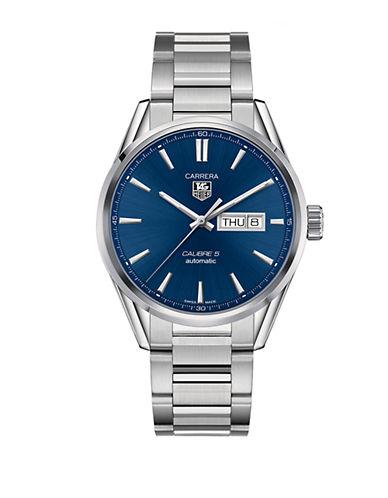 Carrera Day-Date Stainless Steel Bracelet Watch