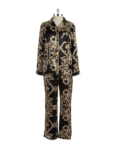 IN BLOOMDamask Print Pajama Set