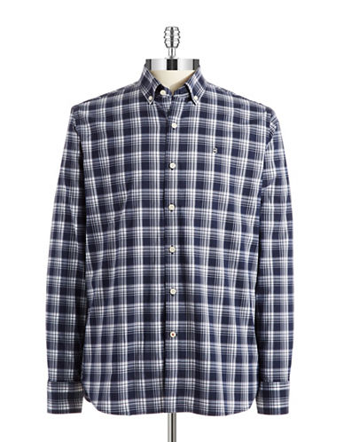 VICTORINOX Tailored Fit Plaid Sport Shirt