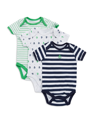 VITAMINS Three Pack Patterned Bodysuits