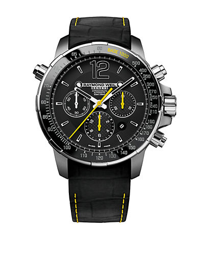 RAYMOND WEIL Mens Nabucco Black and Yellow Chronograph Watch