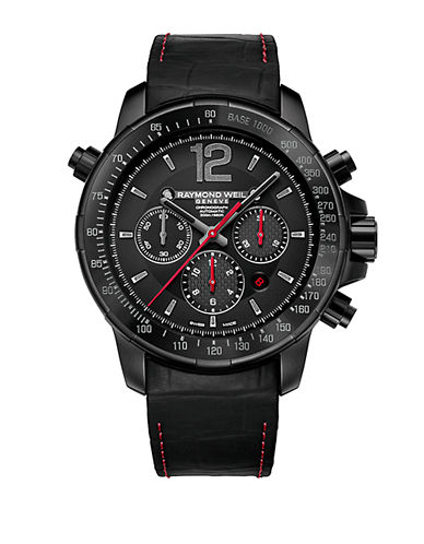 RAYMOND WEIL Mens Nabucco Black and Red Chronograph Watch