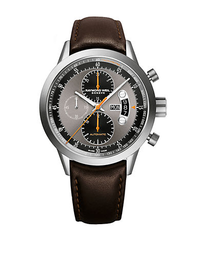 RAYMOND WEIL Mens Freelancer Titanium and Leather Watch