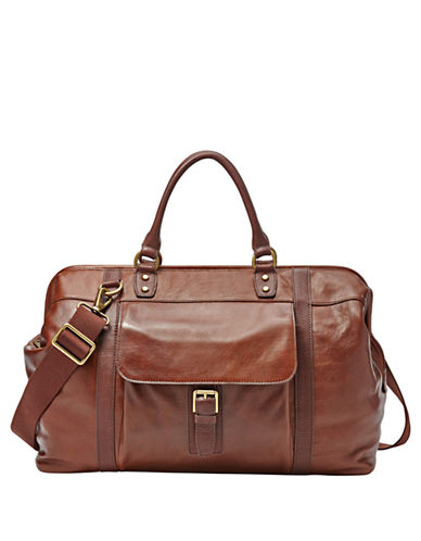 FOSSIL Leather Framed Duffle Bag