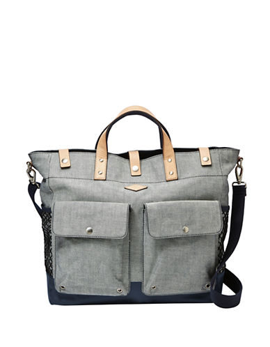 FOSSILUtility Leather-Trimmed Tote