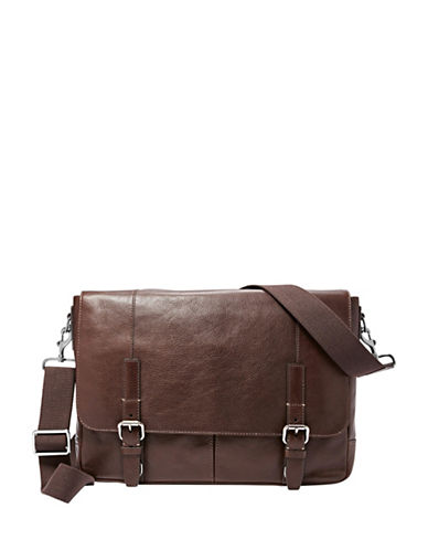 michael kors male grain leather messenger bag