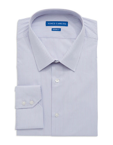 VINCE CAMUTO Modern Fit Dobby Striped Dress Shirt