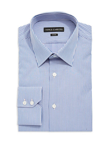 VINCE CAMUTO Fitted Striped Button-Down Shirt