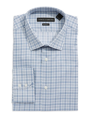 VINCE CAMUTO Modern Fit Checkered Dress Shirt
