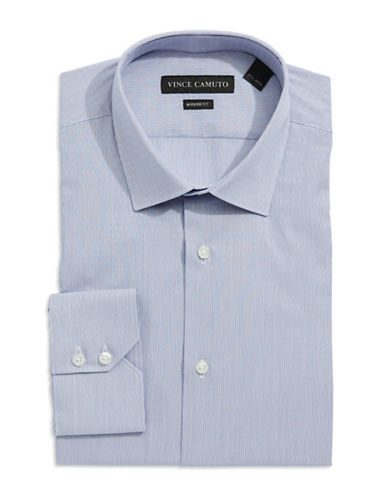 VINCE CAMUTO Modern Fit Derby Striped Dress Shirt