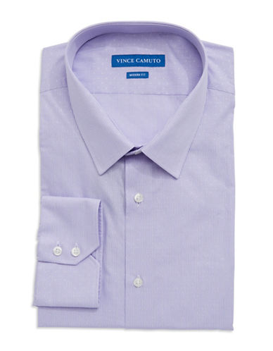 VINCE CAMUTO Modern Fit Dobby Gingham Dress Shirt