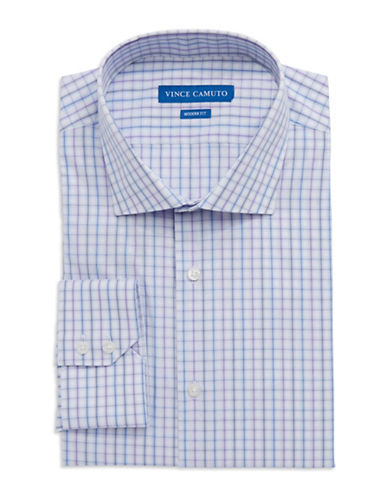 VINCE CAMUTO Modern Fit Check Dress Shirt