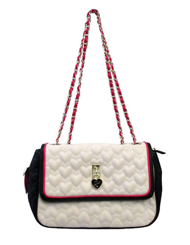 BETSEY JOHNSONBe My Everything Quilted Colorblock Shoulder Bag