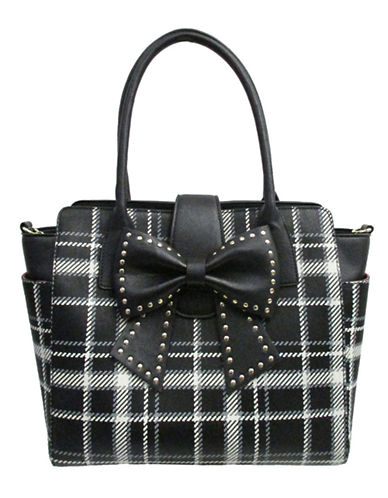 BETSEY JOHNSON Sincerely Yours Studded Bow Tote Bag