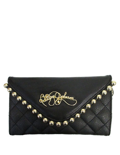 BETSEY JOHNSONBall and Chain Quilted Clutch