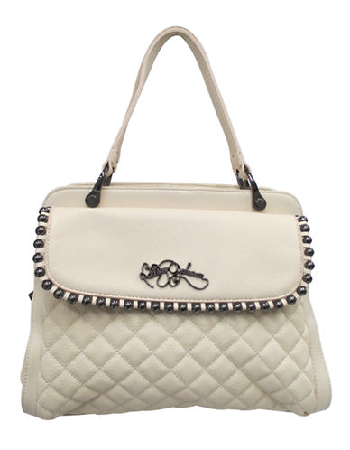 BETSEY JOHNSONBall and Chain Quilted Satchel
