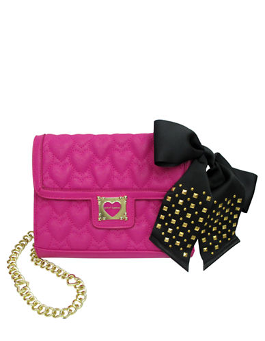 BETSEY JOHNSON Be My Sweetheart Quilted Crossbody Bag