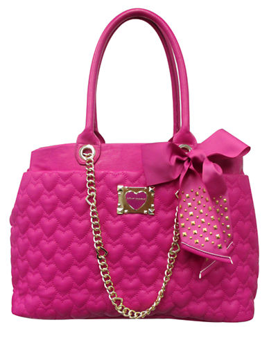 BETSEY JOHNSONBe My Sweetheart Quilted Tote Bag