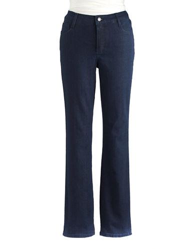 JONES NEW YORK PETITESPetite Studded Straight-Leg Denim Jeans
