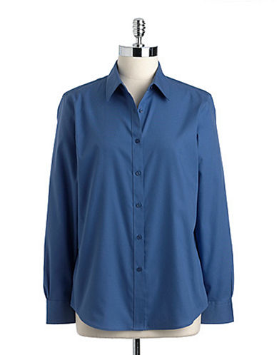 JONES NEW YORK PLUSPlus Cotton Button-Down Shirt