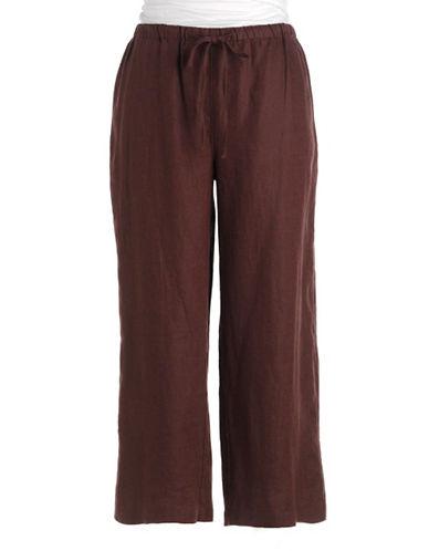 J JONES NEW YORKLinen Drawstring Cropped Pants