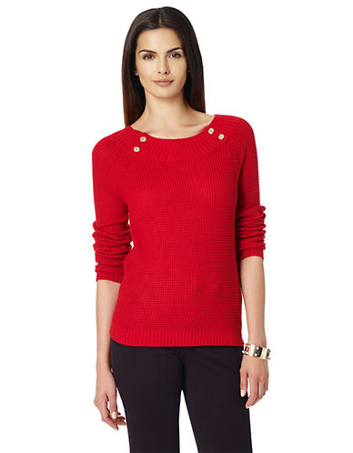 Jones New York Plus Plus Long-Sleeve Boat Neck Pullover