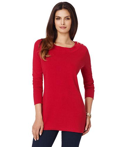 Jones New York Plus Plus Long-Sleeve Pullover