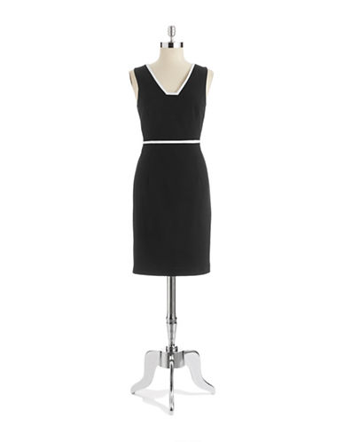 Shop Anne Klein online and buy Anne Klein V-Neck A-Line Dress dress online