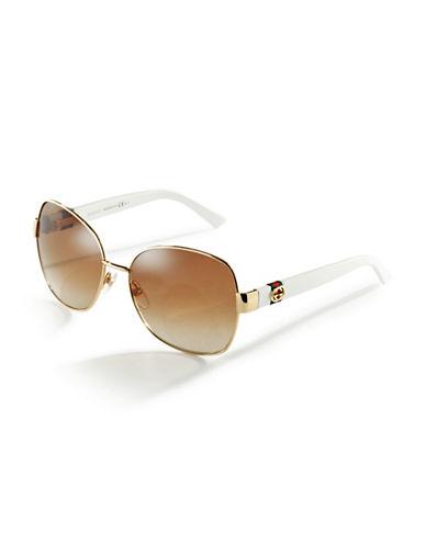 GUCCIRounded Havana Sunglasses