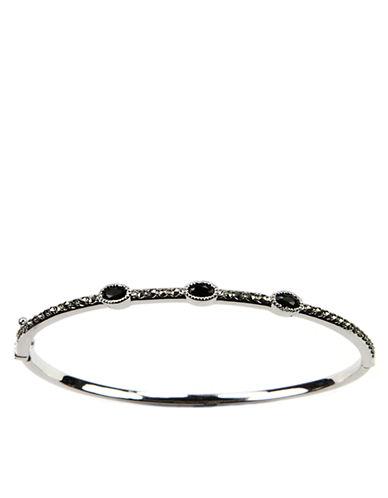 JUDITH JACKSterling Silver and Crystal Bangle Bracelet