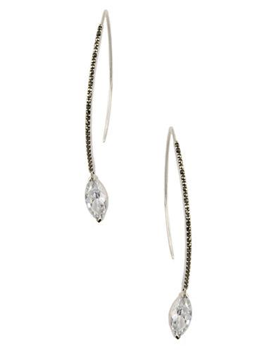 JUDITH JACKSterling Silver and Crystal Drop Earrings