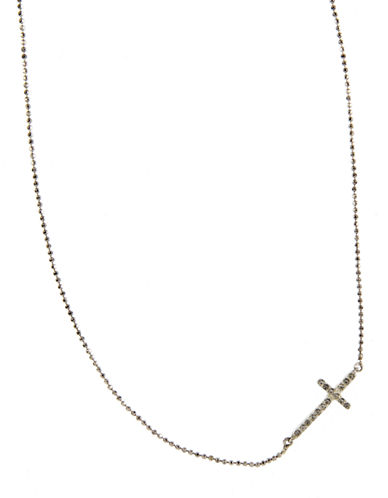 JUDITH JACKChain and Cross Pendant Necklace