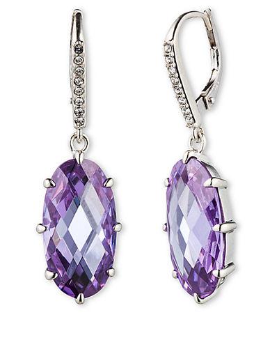 JUDITH JACKSterling Silver and Amethyst Crystal Drop Earrings