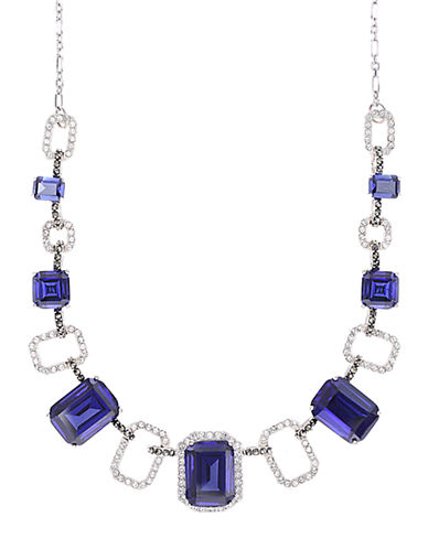JUDITH JACK Sterling Silver and Multi-Crystal Frontal Necklace