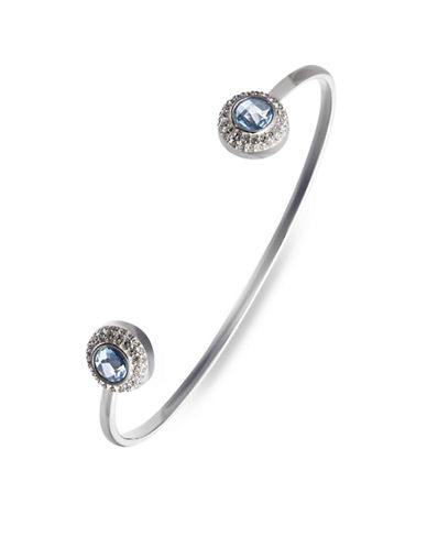 Judith Jack Sterling Silver and Blue Crystal Cuff Bracelet