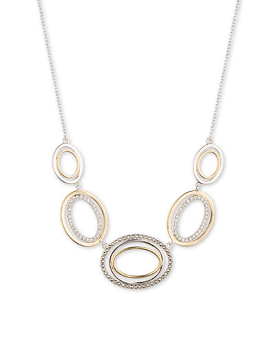 JUDITH JACKSet the Two Tone Cubic Zirconia and Sterling Silver Necklace