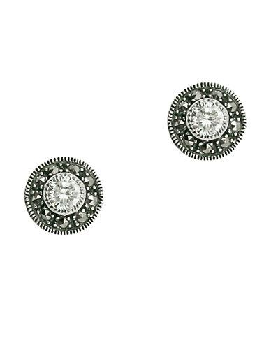 JUDITH JACKSterling Silver and Crystal Stud Earrings