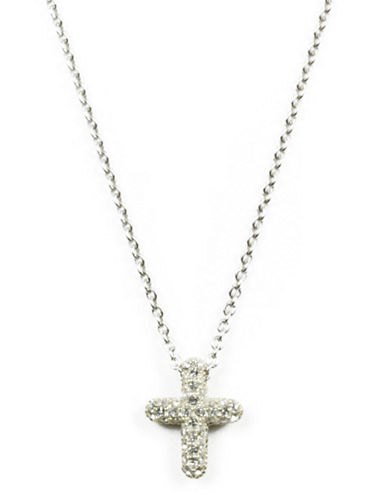 JUDITH JACKSterling Silver and Crystal Pendant Necklace