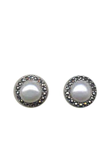 JUDITH JACKSterling Silver and Pearl Stud Earrings